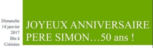 Anniversaire Pere Simon Paroisse Saint Martin De L Isle Cremieu